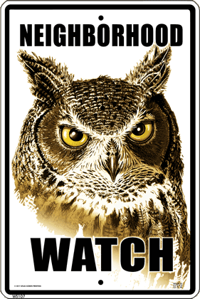 Owl Watch Sign