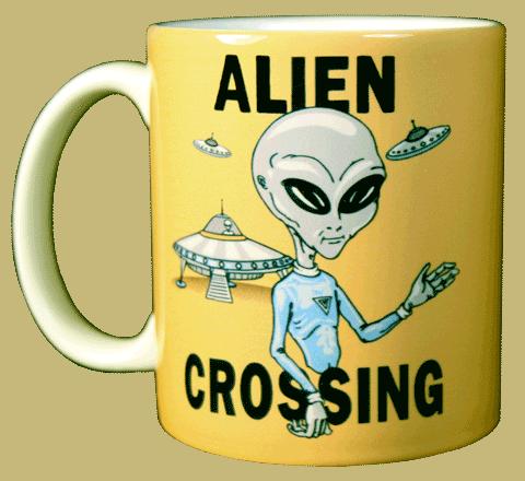 Alien Crossing Ceramic Mug