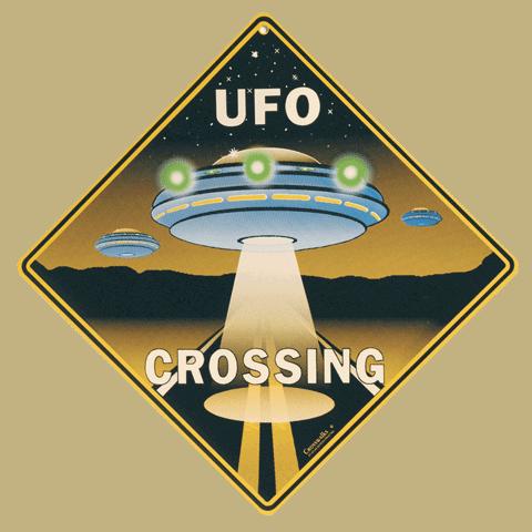UFO Crossing Sign