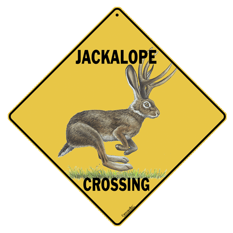 Jackalope Crossing Sign