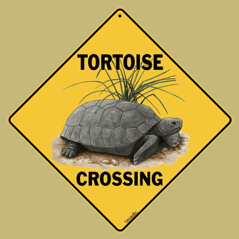 Tortoise Crossing Sign