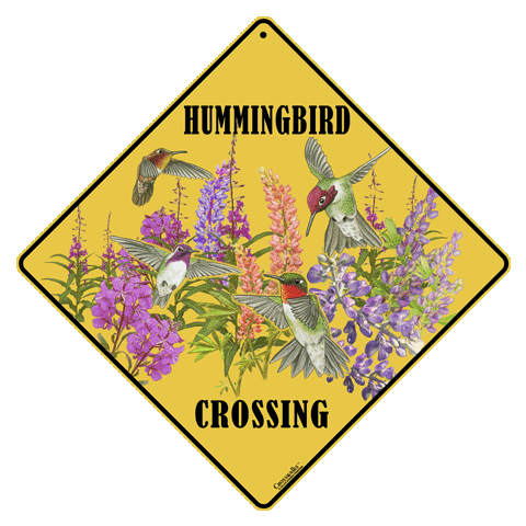 Western Hummers Crossing Sign