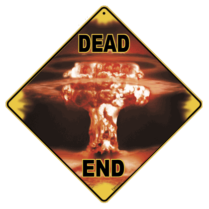 Atomic Dead End Sign