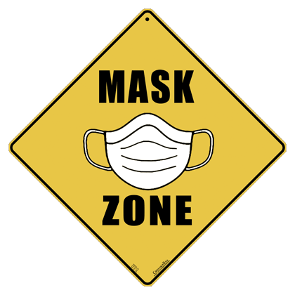 Mask Zone Sign