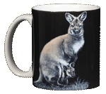 Wallaby Ceramic Mug - Front