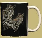 Zebra Pair Ceramic Mug - Back