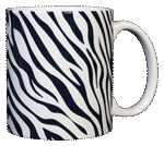 Zebra Stripes Ceramic Mug - Back