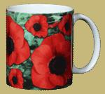 Poppies Ceramic Mug - Back