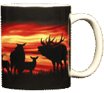 Twilight Elk Ceramic Mug - Back