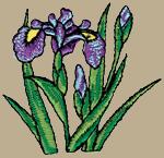 Irises Embroidered Cap