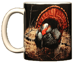 Wild Turkey Strutting Ceramic Mug