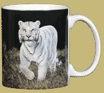 White Tiger Ceramic Mug