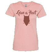 Give A Hoot Ladies T-shirt