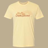 Hello Sunshine Unisex T-shirt - Next Level Banana Cream