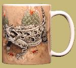 Horned Lizard Ceramic Mug - Back