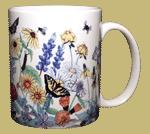 Vintage Wildflowers Ceramic Mug - Back