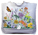 Vintage Wildflowers Canvas Tote
