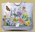 Vintage Wildflowers Canvas Tote
