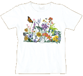Vintage Wildflowers Ladies Scoop-Neck T-shirt - Front
