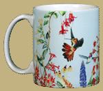 Hummer Garden Ceramic Mug  (blue)