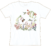 Vintage Hummer Garden Ladies Scoop-Neck T