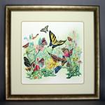 Butterfly Garden II Framed Print
