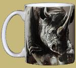 Rhino Ceramic Mug - Front