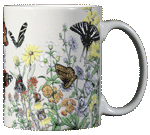 Butterflies of NA Ceramic Mug - Back