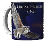 Great Horned Owl Ceramic Mug