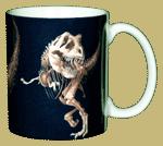 T-Rex Skeleton Ceramic Mug - Back