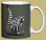 Ring-tailed Lemurs Ceramic Mug - Back