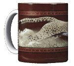 Cheetah Ceramic Mug - Front