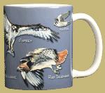 Birds of Prey Ceramic Mug - Back