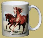 Running Horses Ceramic Mug