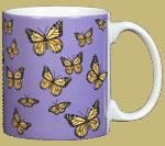 Monarch Medley Ceramic Mug - Back