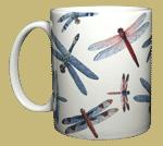 Dragonfly Glitter Ceramic Mug