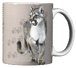 Cat Trax Ceramic Mug - Back