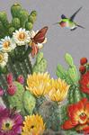 """Cactus Floral 2"""" X 3"""" Magnet"""