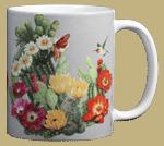 Cactus Flowers Ceramic Mug - Back