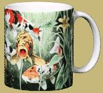 Koi Pond Ceramic Mug - Back