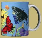 Butterfly Spectrum Ceramic Mug - Back