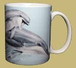 Leaping Dolphins Ceramic Mug