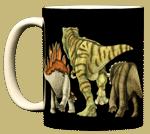 Dino Heads & Tails Ceramic Mug