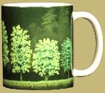 Trees Ceramic Mug - Back
