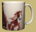 Horses Heads & Tails Ceramic Mug - Back