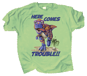 Dino Trouble Youth T-shirt