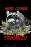 "Raccoon Trouble 2"" X 3"" Magnet"