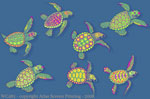 "Sea Turtle Glow  2"" X 3"" Magnet"