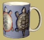 Turtle Circle Ceramic Mug - Back