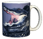 Mega Gator Ceramic Mug - Back